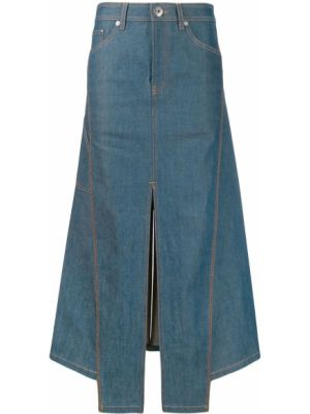 Юбка миди джинсовая на пуговицах Lanvin