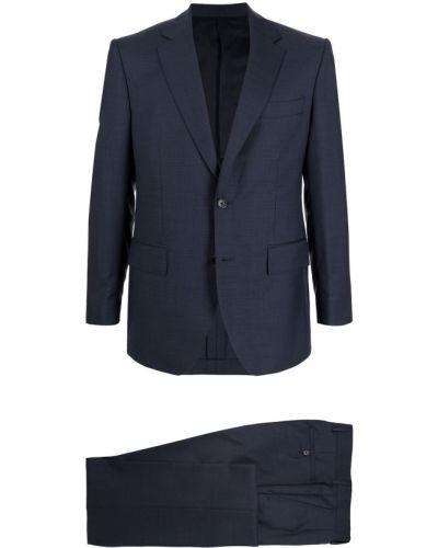 Niebieski garnitur wełniany Gieves & Hawkes