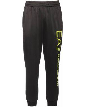 С кулиской нейлоновые брюки на резинке с карманами Ea7 Emporio Armani