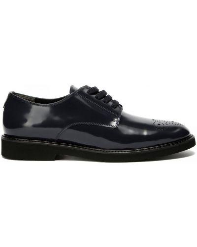 Кожаные синие туфли закрытые Baldinini