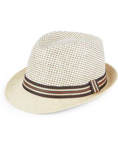 Коричневые соломенные шляпа Marcus Adler