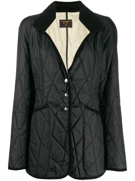 Классическое стеганое пальто айвори с лацканами с капюшоном Vivienne Westwood Pre-owned