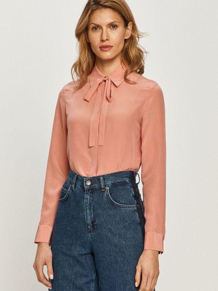 Розовая шелковая с рукавами рубашка Max&co