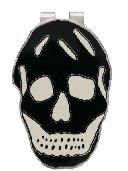 Spinka do mankietów guzki z czaszkami Alexander Mcqueen
