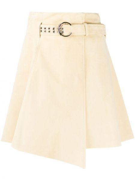 С завышенной талией юбка с запахом со складками из вискозы Chloé