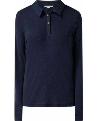T-shirt z długimi rękawami - niebieska Esprit