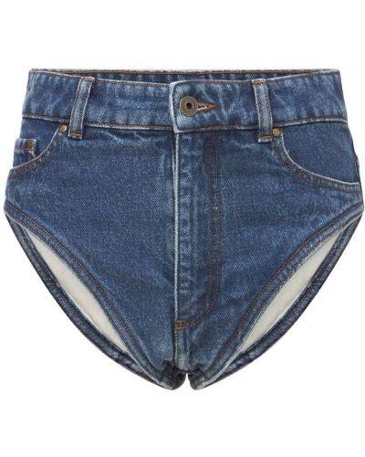 Синие джинсовые шорты Y/project
