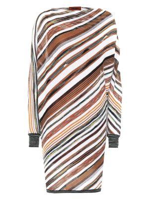 Шерстяное платье миди в полоску Missoni