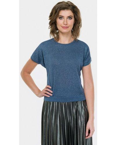 Блузка с коротким рукавом польская синяя Vera Moni