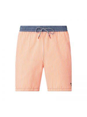 Pomarańczowe szorty w paski bawełniane Zeybra