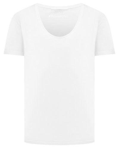 Белая футболка немецкая Boss