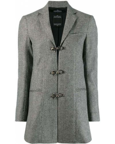 Однобортный черный пиджак Rokh