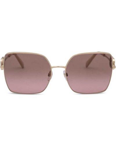 Розовые солнцезащитные очки Valentino