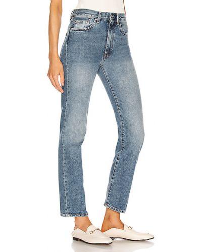 Niebieskie jeansy bawełniane vintage Toteme
