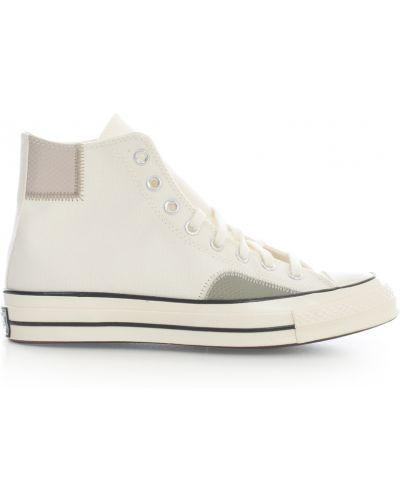 Białe trampki z printem Converse