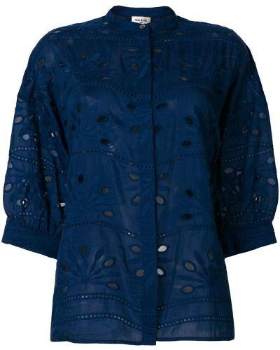 Рубашка с вышивкой хлопковая шелковая Paul & Joe