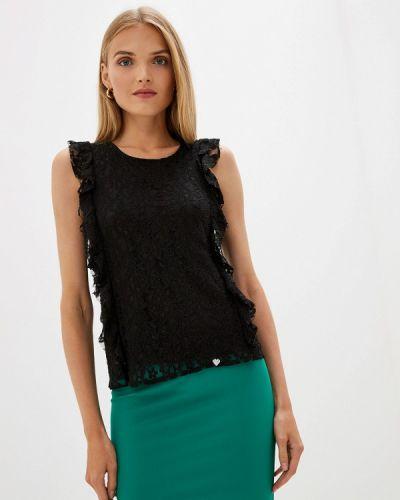 Блузка с рюшами черная Blugirl Folies