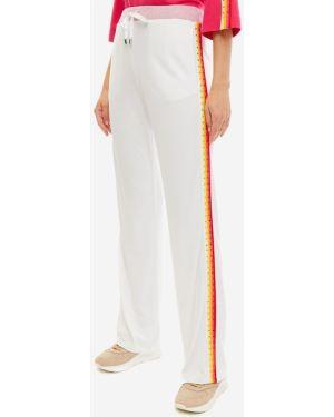 Свободные брюки из вискозы белые Liu Jo Sport