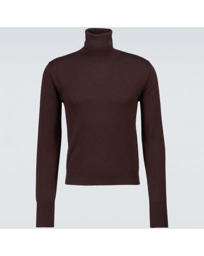 Коричневый свитер с вышивкой Amiri