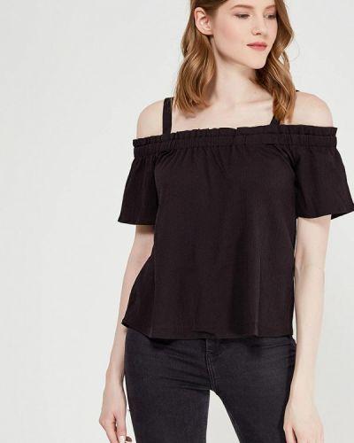 Черная блузка с открытыми плечами Noisy May