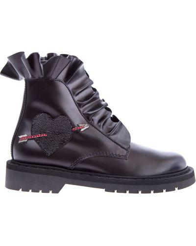 Кожаные ботинки высокие Valentino