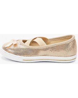 Туфли золотой юничел