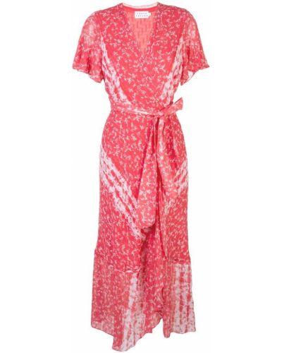 Платье с запахом с цветочным принтом Tanya Taylor