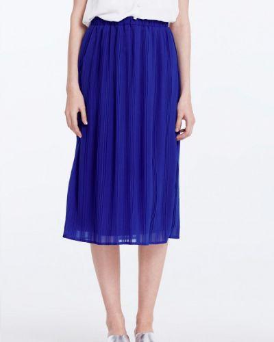 Плиссированная юбка синяя Musthave