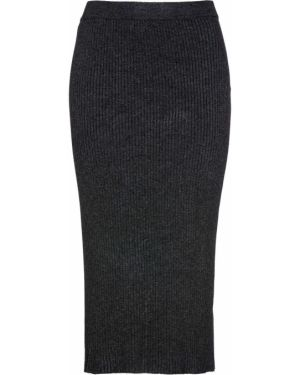 Вязаная юбка меланж Bonprix