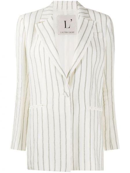 Белый пиджак с карманами с воротником L'autre Chose