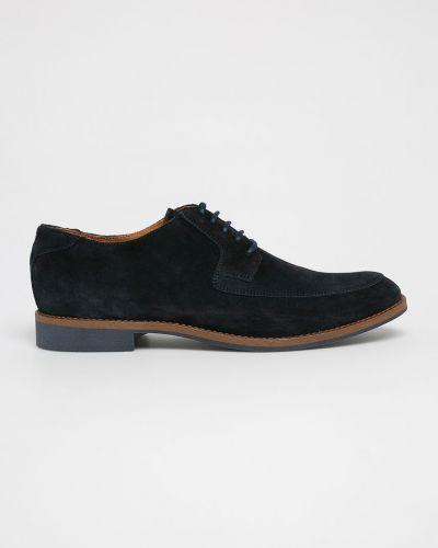 Туфли на шнуровке замшевые текстильные Gino Rossi