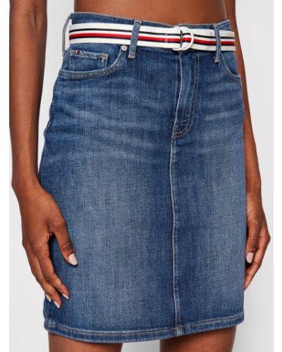 Spódnica jeansowa - niebieska Tommy Hilfiger