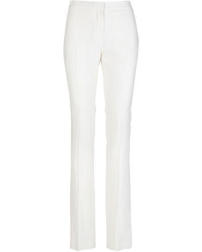 Białe spodnie cygaretki eleganckie Alexander Mcqueen