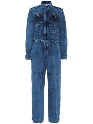 Синий джинсовый комбинезон с поясом Stella Mccartney