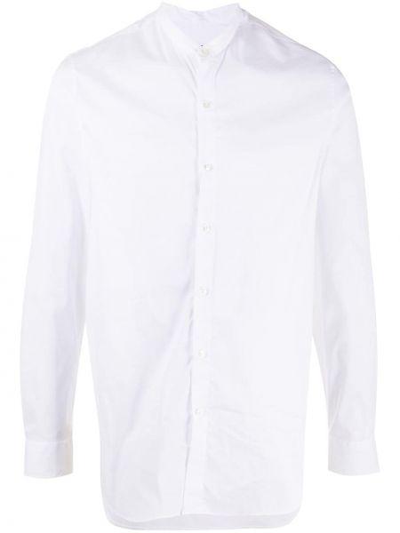 С рукавами белая рубашка с воротником-стойка Giorgio Armani