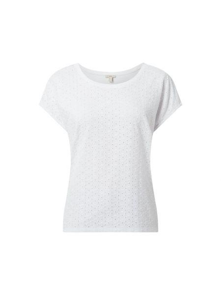 Bluzka z haftem - biała Edc By Esprit