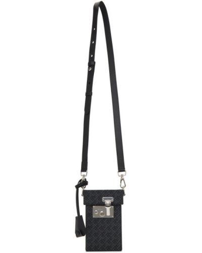 Srebro torba kosmetyczna prążkowany z łatami Dunhill