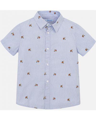Рубашка с узором синий Mayoral