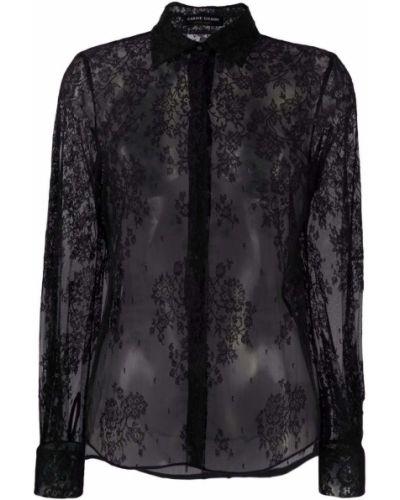 Bluzka koronkowa - czarna Carine Gilson