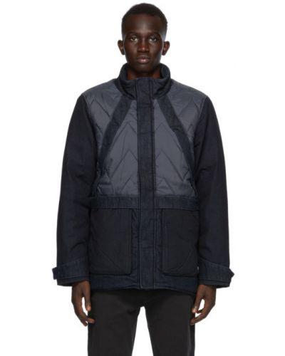 Синее стеганое длинное пальто с воротником Levi's®  Made & Crafted™