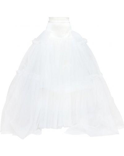 Белая юбка макси из фатина Vivienne Westwood