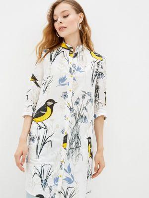 Платье рубашка - белое Adzhedo
