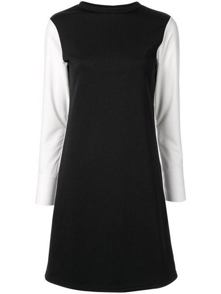 Черное платье в рубчик на пуговицах из вискозы Loveless