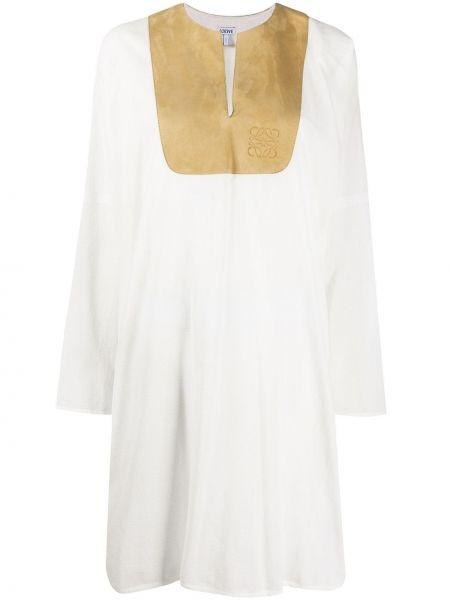 Платье миди с разрезами по бокам платье-рубашка Loewe