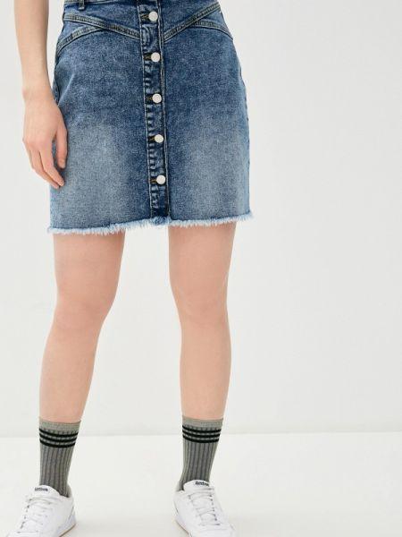 Синяя джинсовая юбка B.young