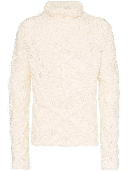 Белый свитер свободного кроя Martin Diment