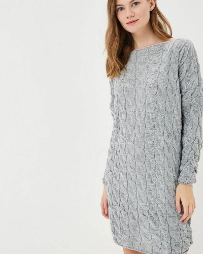 Платье серое вязаное Fimfi