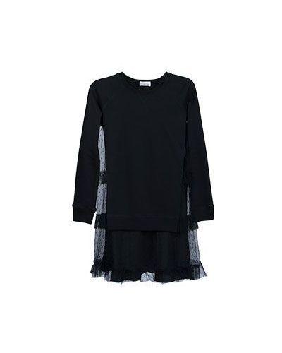 Черное платье с длинными рукавами Valentino Red