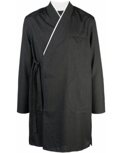 Черная облегченная длинная куртка Siki Im