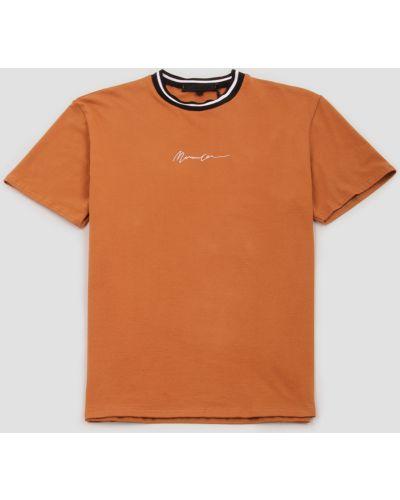 Футболка с вышивкой - коричневая Mennace